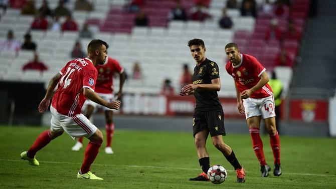 Taça da Liga: Benfica empata a zero diante do V. Guimarães em pleno Estádio da Luz