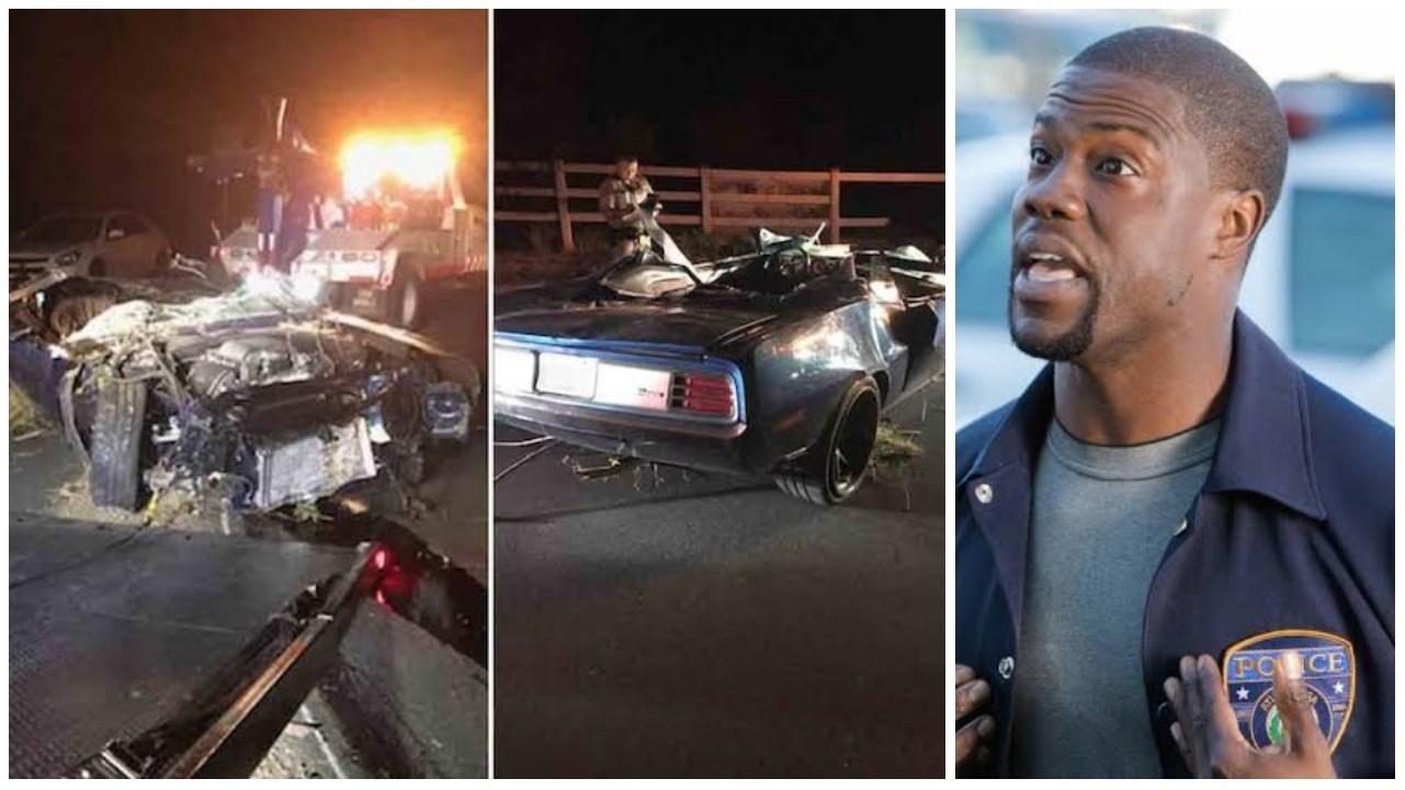 Kevin Hart sofreu um grave acidente de carro nos EUA