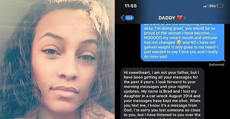 Mulher que mandava mensagens pro celular do pai que morreu há 4 anos recebe resposta de homem que perdeu a filha
