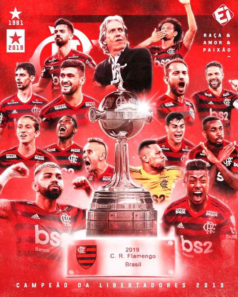 Flamengo vira Jogo em 3 minutos e conquista Libertadores 38 anos depois