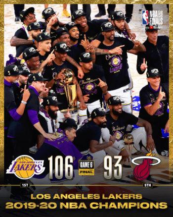 Lakers atropelam Miami Heat e conquistam 17.º título da NBA